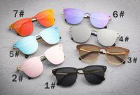 Verano hombre metal Bicicleta Vidrio Hombres deporte al aire libre moda gafas de sol mujer conducir gafas de sol viento espejo gafas 18 colores envío gratis