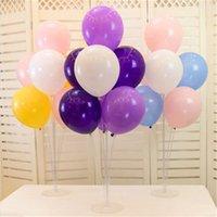 اللوازم الجملة 70CM من البلاستيك الشفاف بالون الوقوف البالونات عمود قاعدة زفاف ديكور حفل عيد ميلاد عيد الحب