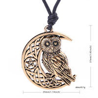 Eule Göttin Crescent Moon Anhänger Wiccan Pagan Amulett Talisman Okkulte Magie Athena Weisheit Wissen Schmuck