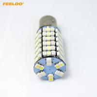 FEELDO 2PC 1157 / BAY15d 120SMD-1210/3528 Lampadine a LED bicolore bianco / giallo ambra # 4527