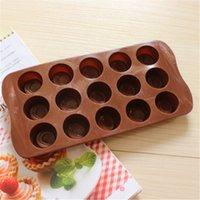Moldes para pasteles Círculo redondo Muffin Case Candy Jelly Tools Molde para pasteles de hielo Bandejas para hornear de silicona