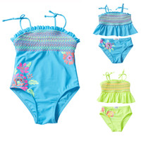 UPF 50+ Toddler Kids Swimsuit Ensembles 2 pièces Bikini Stri...