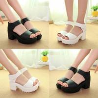 73268893f42b2b Summer New Arrival 2016 White Fashion Ford Wedge Sandals  High Heel Platform  Soft PU Women s Sandels Shoes