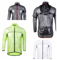 Cycling Raincoat Dust Coat Windbreaker Bike Jacket Jersey Bi...
