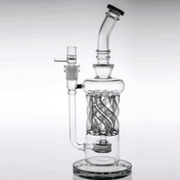 Special Design 32cm Tall Two Functions Recycler Glass Bongs ...