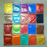 Neue 240g Shimmer Mica Pigment subtile Farben für Polymer Clay Paper Crafts Resin Nail Art