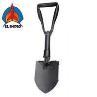 EL INDIO مجرفة عسكرية متعددة الوظائف قابلة للطي للتخييم مجرفة Pickaxe مع مقبض الثلاثي الحجم المتوسط