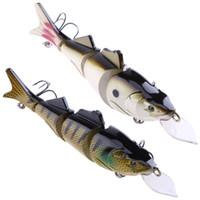 39 г 17 см Рыба Рыбалка гольян 4 сегмента большие поддельные приманки Crankbait 3D глаз искусственные рыболовные приманки приманки снасти Pesca
