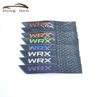 HB 2PCS Badge WRX för Subaru ABS Fender Scuff Door Scratch Bumper Strip 3D Stickers Fender