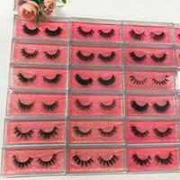 Proprio marchio Srashine 3D Ciglia di visone Rosa Glitter Card Full Strip Ciglia lunghe e spesse 100% Hand Made Packaging personalizzato Drop Shipping