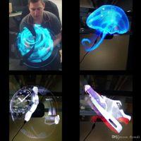 스토어 숍 바 홀리데이 이벤트에 대한 3D 홀로그램 광고 디스플레이 LED 팬 홀로 그래픽 3D 사진 동영상 3D 벌거 벗은 눈 LED 팬 프로젝터