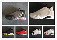 14 Último Tiro 14s DESERT SAND homens tênis de basquete 14s BLACK TOE mens calçados esportivos botas tênis atletismo com caixa livre shippment calçado