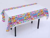 Happy Birthday Party Table Cover Food Grade PE One TimeTable...