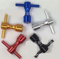 Moda al aire libre Deporte Golf Push Rod Screw Herramienta de mano Color aleación de aluminio Wrench Red Blue Hot venta 18fg Ww