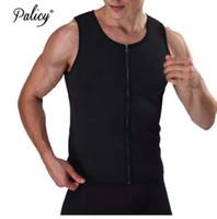 Palicy Siyah Mavi Yeşil Neopren Kilo Kaybı Erkek Vücut Şekillendirme Yelek Zayıflama Bel Tops Ter Shapwear Sıcak Artı Boyutu S-3XL