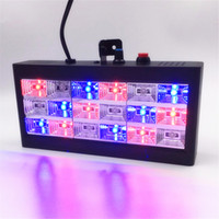 미니 사운드 컨트롤 18 RGB LED 스트로브 사운드 컨트롤 파티 클럽 디스코 음성 음악 무대 조명 프로젝터 클럽 바 110V 220V