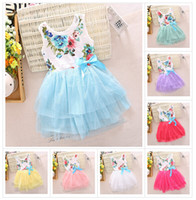 new girls dresses girl tutu dress baby clothing flowers kids...