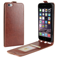 For iPhone 6 6S Plus Up Down Leather Flip Case+ TPU Back Cove...
