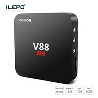 KD 18.0 Android 7.1 Новый TV Box V88 1GB 8GB Rockchip RK3229 Четырехъядерный eMMC IPTV Smart Media Player Boxs Лучше S905W X96 Mini MXQ Pro