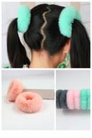 20 pcs mulheres meninas pêlos de cabelo imitação rex coelho pele elástica faixa de cabelo bonito macio ponytail cabelo titular corda acessórios de cabelo headwear fj3353