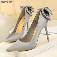 Solid Silk Sweet Butterfly- knot Women Shoes 2018 New Arrival...