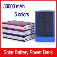 Portable solar battery charger 30000mah LED Darkening portab...