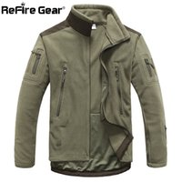 5148157e7a658 ReFire Gear Hiver Chaud Militaire Style Polaire Veste Hommes Épaissir  Polaire Vêtements De Manteau Armée Vêtements