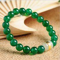 Agata Hetian strada giada perline bracciali oro placcato perline trasporto all'ingrosso gioielli giada