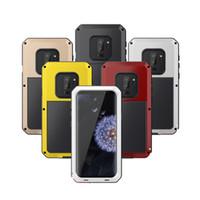 Per Samsung Galaxy S9 S9PLUS NOTE8 S8 S8PLUS S7edge antiurto impermeabile in alluminio Gorilla Glass Protect copertura del telefono lega Custodia in metallo