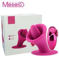 Meselo язык вибратор сосать лизать 10 Режим секс-игрушки для женщин мастурбатор пульт дистанционного управления соска клитор стимулятор USB заряд C18111501