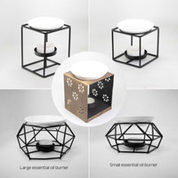 lot Style Iron stand Ceramic Oil Burner Warm tea Home Fragra...