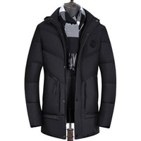 2018 Brand Mens Parka Warm Thick Long Coat Men Causal Hooded...