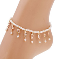 Summer New Arrival Hot Bead Bracelet On The Leg Imitation Pe...