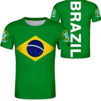 Brasilien T-shirt Kostenloser benutzerdefinierter Name Nummer BH Land T-shirt Portugal BR Flagge Portugiesisch Druck Foto Brasilien Federativa DIY Kleidung