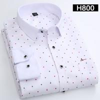 Camisas dos homens de Algodão de Moda de Manga Longa Casual Camisa Tops Floral Imprimir Bordado Drop ShippingNew Vestido Da Marca Dos Homens Blusas Camisa