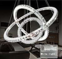 Modern LED Kristal Avize Işıklar Lamba Oturma Odası Cristal Cilası Avizeler Aydınlatma Kolye Asılı Tavan Armatürleri Için