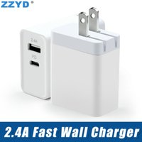 ZZYD 2. 4A Fast Wll Charger PD Adapter USB Type- c Port Travel...