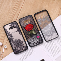 TPU PC Lace Embroidery Rose Phone Case For iPhone X 5S 6 6S ...