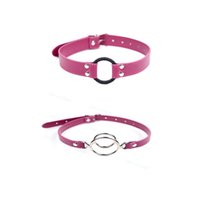 Rosy Open Bouth Restraint O Ring Gag / Deep Throat Plug Oral Fixation Harness Toy # R56