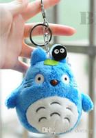 Neueste 10 cm Mini Cartoon Totoro Plüsch Anhänger kuscheltiere Weiche Anime Totoro Schlüsselanhänger Tasche Anhänger baby Liebe Spielzeug Puppe Weihnachtsgeschenk