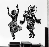 Removable Wallpaper Buddha Dance Indian Hinduism Wall Sticke...