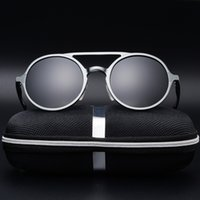 New Men Polarized Sunglasses Classic Retro Round Frame Fashi...