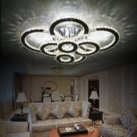 Modern LED Crystal Ceiling Lights For Living Room luminarias...