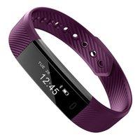 Inteligente Pulseira de Fitness Rastreador relógio inteligente Step Counter Activity Monitor inteligente Relógio de pulso Relógio Despertador Vibration Assista iPhone Android Para