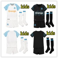 2018 2019 Olympique Marseille kids kit Soccer Jersey 18 19 B...