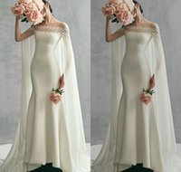 2018 elegant Satin Mermaid Wedding Dresses With Wrap Off Sho...
