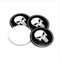 Teschio in lega di alluminio Car Emblem Wheel Center Tappi di copertura Cap Sticker Badge Badge Emblemi Mozzi ruota