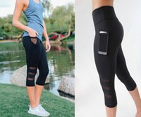 Yoga Leggings Capri Pant Leggings Sport Women Fitness Yoga P...