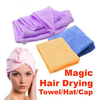 Microfiber Magic Hair Dry Drying Turban Wrap Towel Long- hair...