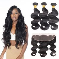 13X4 Lace Frontal Closure with Bundles of Brazilian Virgin H...